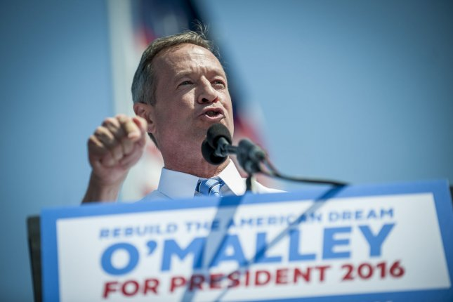 Surrounded by family and supporters, former Maryland Gov. Martin O'Malley announced his intention to seek the Democratic nomination for president on May 30 at Federal Hill Park in Baltimore, Md. O'Malley expressed his concern over the Democratic National Committee hosting just six sanctioned debates in the coming months. File Photo by Pete Marovich/UPI