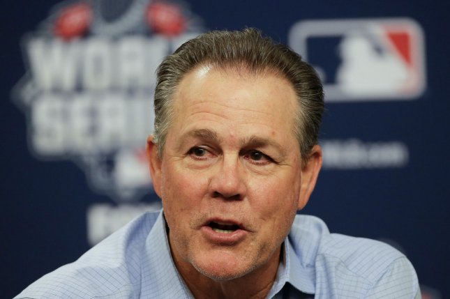 Kansas City Royals manager Ned Yost answers reporters questions at a press conference before the World Series continues at Citi Field in New York City on October 30, 2015. Photo by Ray Stubblebine/UPI
