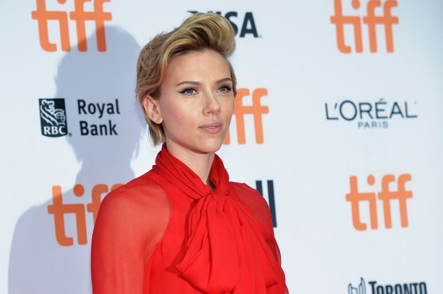 Scarlett Johansson arrives at the Toronto International Film Festival premiere of Sing at the Princess of Wales Theatre in Toronto, Canada, on September 11, 2016. Johansoon stars in the first teasers for Ghost in the Shell. File Photo by Christine Chew/UPI