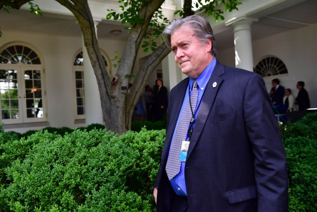 Steve Bannon was ousted as President Donald Trump's chief White House strategist on Friday, sources said. Photo by Kevin Dietsch/UPI