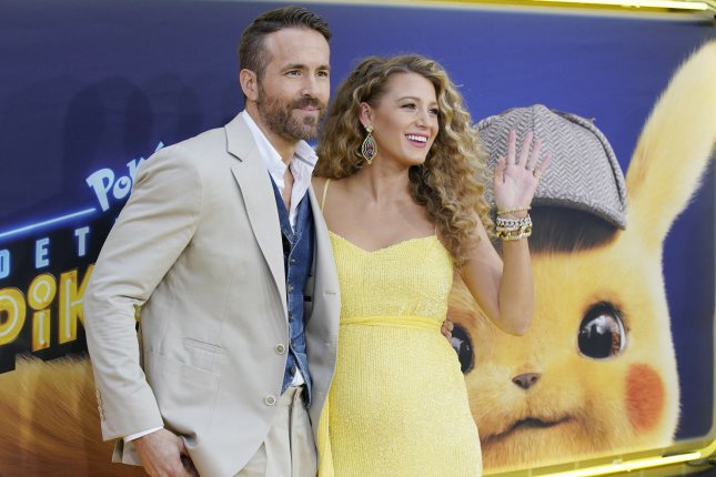 Star Ryan Reynolds (L) and Blake Lively arrive on the red carpet at the Pokemon Detective Pikachu premiere in Times Square on May 02. Photo by John Angelillo/UPI