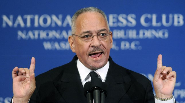 A proposed conservative super PAC ad would have highlighted a connection between controversial Reverend Jeremiah Wright and President Barack Obama. (UPI Photo/Kevin Dietsch)
