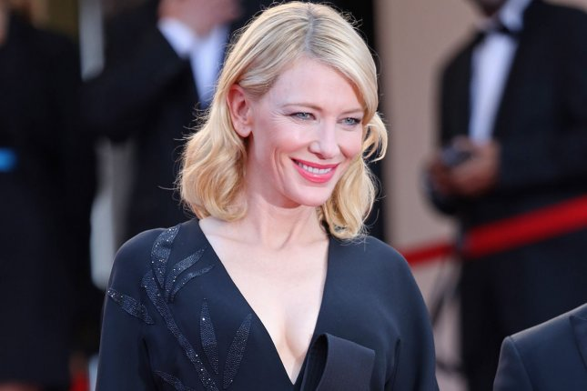 Cate Blanchett arrives on the steps of the Palais des Festivals before the screening of the film Inside Out during the 68th annual Cannes International Film Festival in Cannes, France on May 19, 2015. Blanchett is set to receive the British Film Institute's highest honor, a lifetime achievement award. Photo by David Silpa/UPI..