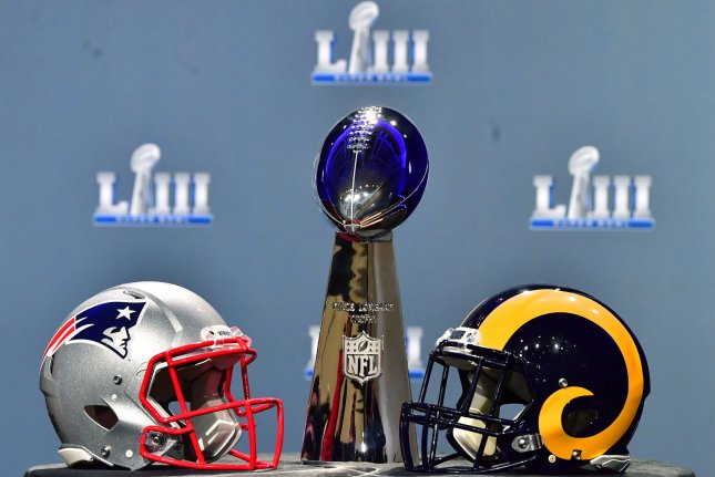 The Vince Lombari trophy will be up for grabs on Sunday as the Los Angeles rams take on the New England Patriots in Super Bowl LIII. A recent study found that most Americans disapprove of the NFL and 44 percent of those surveyed don't care who wins the Super Bowl. Photo by Kevin Dietsch/UPI
