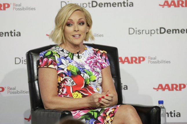 Jane Krakowski speaks to Katie Couric and attendees when AARP hosts a brain health event in New York City on June 25, 2018. The actor turns 52 on October 11. File Photo by John Angelillo/UPI