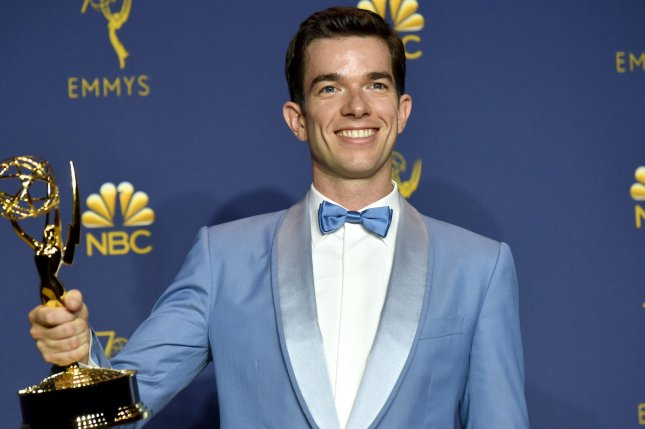 John Mulaney appears backstage during the 70th annual Primetime Emmy Awards on September 2018. Mulaney is bringing his Sack Lunch Bunch series to Comedy Central. File Photo by Christine Chew/UPI
