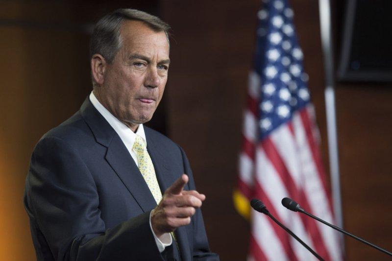 Speaker of the House John Boehner, R-Ohio. UPI/Kevin Dietsch