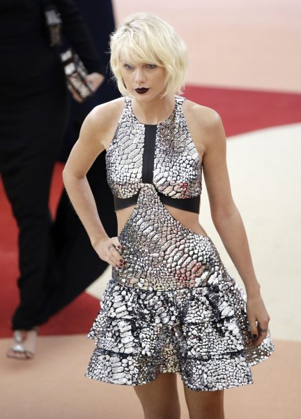 Taylor Swift arrives on the red carpet at the Costume Institute Benefit at The Metropolitan Museum of Art in New York City on May 2, 2016. On Monday, a federal jury sided with the singer in a lawsuit against a former radio DJ who groped her during a photo-op. File Photo by John Angelillo/UPI