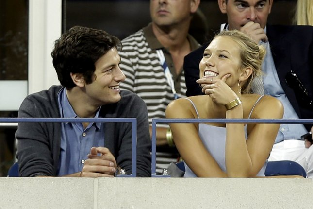 Karlie Kloss (R), pictured with Joshua Kushner, shared a new picture with the businessman Wednesday. File Photo by John Angelillo/UPI
