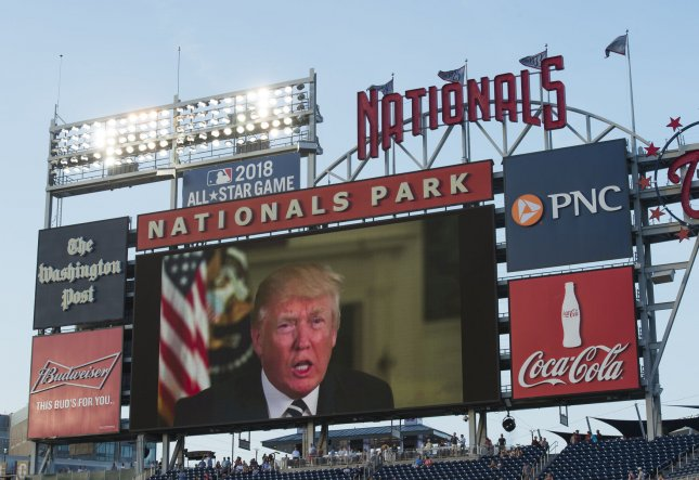 President Donald Trump said he will attend the fifth game of the World Series on Sunday if there is one. Photo by Molly Riley/UPI