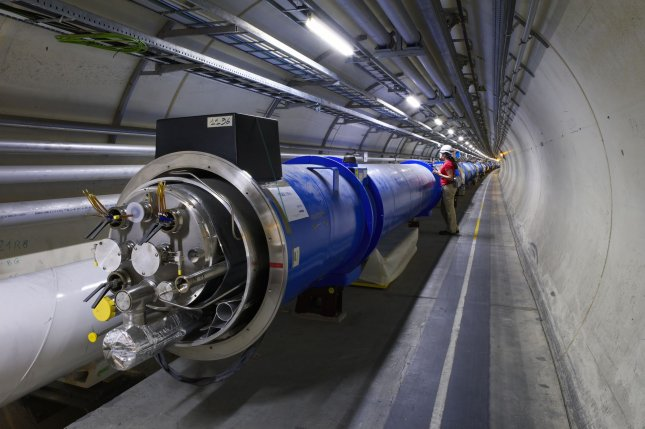 A weasel recently disrupted Large Hadron Collider experiments when it chewed through cables and damaged a transformer. Photo by UPI/Maximilien Brice/CERN