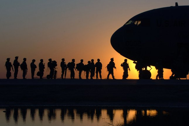 U.S. Soldiers wait to board a C-17 Globemaster III aircraft at Joint Base Balad, Iraq, 2008. The U.S. Senate's Appropriations Committee approved its Fiscal 2017 defense bill Thursday, one leaders say balances readiness, procurement and overseas warfighting needs. UPI Photo/Erik Gudmundson/U.S. Air Force