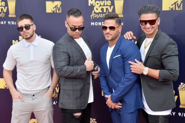 Ronnie Ortiz Magro Second From Right Pictured With Vinny Guadagnino Mike Sorrentino And Paul Delvecchio L R Attend The Mtv Movie Tv Awards On June
