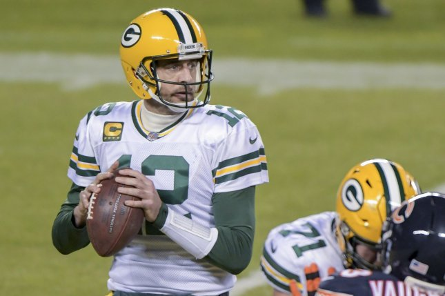 Green Bay Packers quarterback Aaron Rodgers is expected to be named NFL MVP on Saturday night at the NFL Honors award ceremony. File Photo by Mark Black/UPI