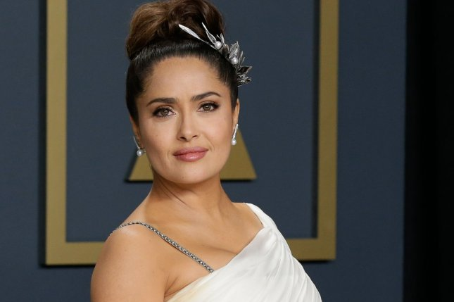 Salma Hayek's The Hitman's Wife's Bodyguard is the No. 1 movie in North America this weekend. File Photo by John Angelillo/UPI