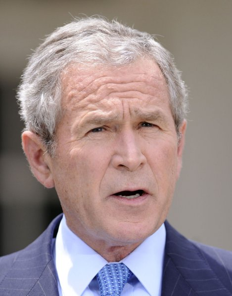 U.S. President George W. Bush announces plans to lift the ban on oil exploration and drilling in the Outer Continental Shelf in the Rose Garden of the White House in Washington on July 14, 2008. (UPI Photo/Kevin Dietsch)