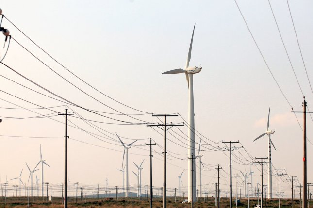 Federal government to get behind a project aimed at building the infrastructure necessary to transmit power generated from wind across the U.S. south. File Photo by Stephen Shaver/UPI