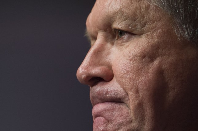 Ohio Gov. John Kasich on Tuesday vetoed legislation that would have banned abortions in the state after as few as six weeks after conception -- or anytime a fetus' heartbeat can be detected. Kasich and anti-abortion advocates believe a law allowing abortion after such a short period of time might easily be defeated in appellate courts. File Photo by Molly Riley/UPI