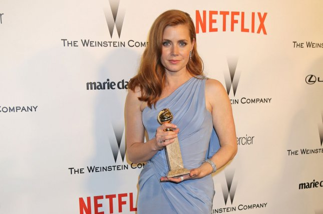 Amy Adams arrives at The Weinstein Company and Netflix Golden Globes After Party following the 72nd annual Golden Globe Awards in Beverly Hills on January 11, 2015. The Globes ceremony is to air on NBC for the next eight years. File Photo by David Silpa/UPI