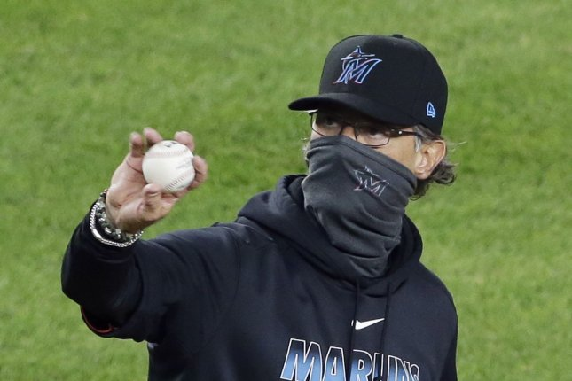 Miami Marlins skipper Don Mattingly (pictured) became the first Manager of the Year for the Marlins since Joe Girardi in 2006. File Photo by John Angelillo/UPI