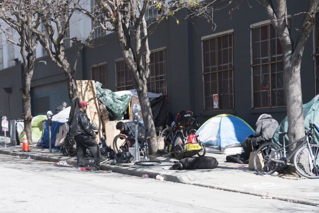 Isolating and quarantining homeless people in hotels during the pandemic can reduce their risk and limit strain on hospitals, a study in San Francisco found. File Photo by Terry Schmitt/UPI