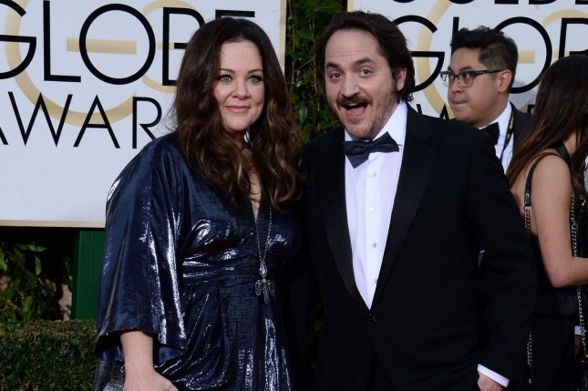 Actors Melissa McCarthy and Ben Falcone attend the 73rd annual Golden Globe Awards in Beverly Hills on January 10, 2016. File photo by Jim Ruymen/UPI