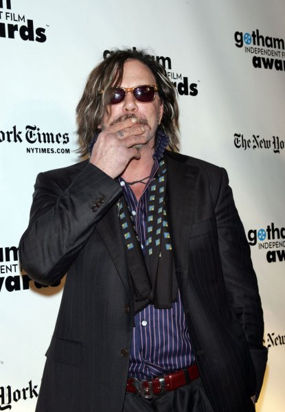 Mickey Rourke arrives for the 18th Annual Gotham Independent Film Awards at Cipriani Wall Street in New York on December 2, 2008. (UPI Photo/Laura Cavanaugh)