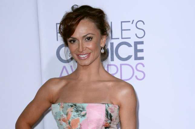 Dancer Karina Smirnoff arrives for the 41st annual People's Choice Awards at the Nokia Theatre in Los Angeles on Jan. 7, 2015. Photo by Jim Ruymen/UPI