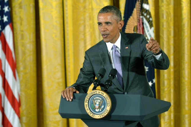President Barack Obama called the Senate's defeat of a Republican resolution to kill the nuclear deal with Iran a victory for democracy, Thursday, Sept. 10, 2015. Photo by Kevin Dietsch/UPI