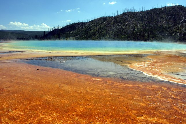 A North Carolina man was badly burned after slipping into a hot spring in Yellowstone National Park. File photo by A.J. Sisco/UPI