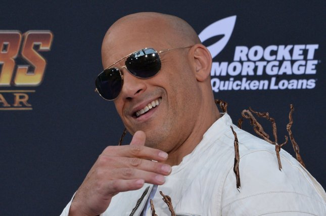 Vin Diesel plays Dominic Toretto in the Fast & Furious movies. File Photo by Jim Ruymen/UPI