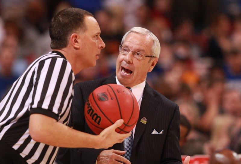 North Carolina head basketball coach Roy Williams. File photo by Bill Greenblatt/UPI