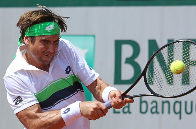 David Ferrer returns a shot during the French Open last month. Photo by David Silpa/UPI