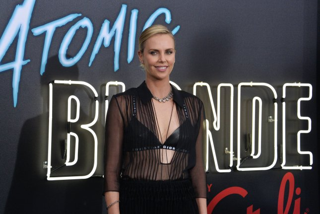 Charlize Theron attends the premiere of Atomic Blonde at The Theatre at the Ace Hotel in downtown Los Angeles on July 24. The actor turns 42 on August 7. Photo by Jim Ruymen/UPI