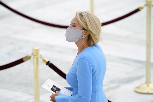 Education Secretary Betsy DeVos first implemented the forbearance in March at the start of the COVID-19 pandemic. File Pool photo by Andrew Harnik/UPI