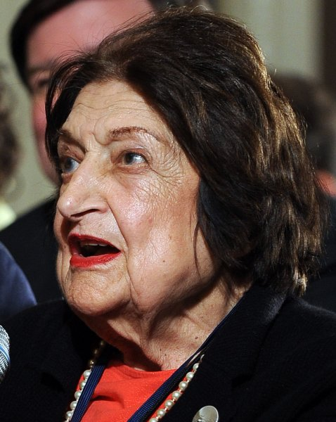 White House correspondent and columnist Helen Thomas has retired, effective immediately, after stating in a video clip that Israelis should get the hell out of Palestine according to reports on June 7, 2010. She is seen asking U.S. President Barack Obama a question during a news conference in the East Room of the White House in Washington on May 27, 2010. UPI/Roger L. Wollenberg/FILE