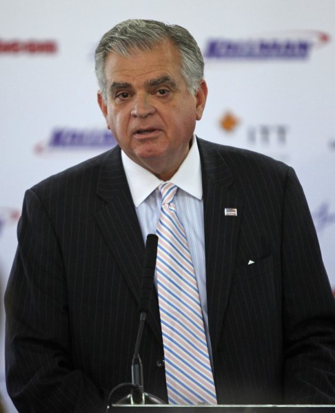 U.S. Secretary of Transportation Ray LaHood, whose son is currently barred from leaving Egypt by authorities. UPI/David Silpa