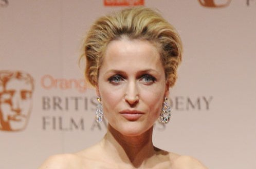 American actress Gillian Anderson attends the press room at Orange British Academy Film Awards at the Royal Opera House in London on February 12, 2012. UPI/Rune Hellestad
