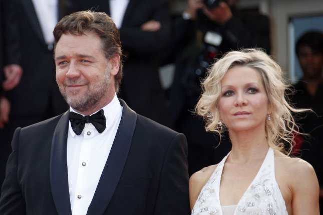 Russell Crowe (L) and estranged wife Danielle Spencer are on good terms. File photo by David Silpa/UPI