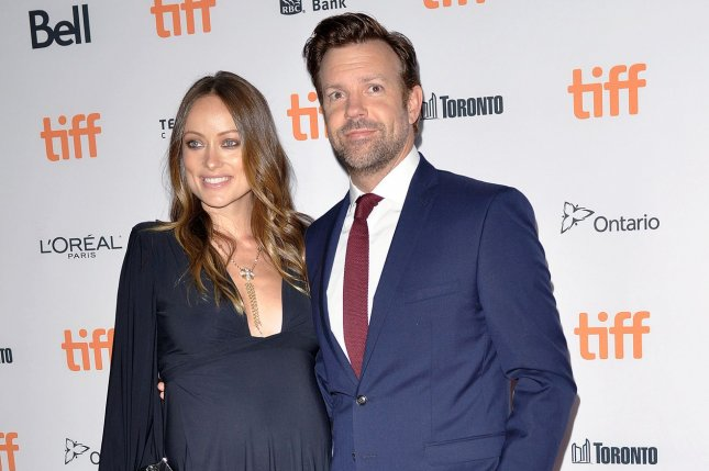 Olivia Wilde (L) and Jason Sudeikis attend the Toronto International Film Festival premiere of Colossal on September 9, 2016. The actress praised Sudeikis' parenting on his birthday Monday. File Photo by Christine Chew/UPI