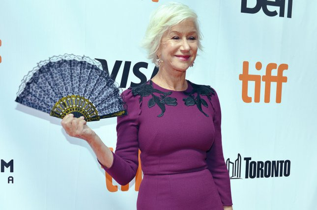 AARP the Magazine is to honor Helen Mirren with its 2017 Movies for Grownups Career Achievement Award. File Photo by Christine Chew/UPI
