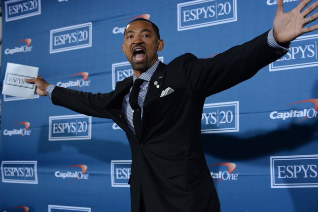 Juwan Howard (pictured) replaces John Beilein, who left Michigan to become the next head coach of the Cleveland Cavaliers. File Photo by Jim Ruymen/UPI