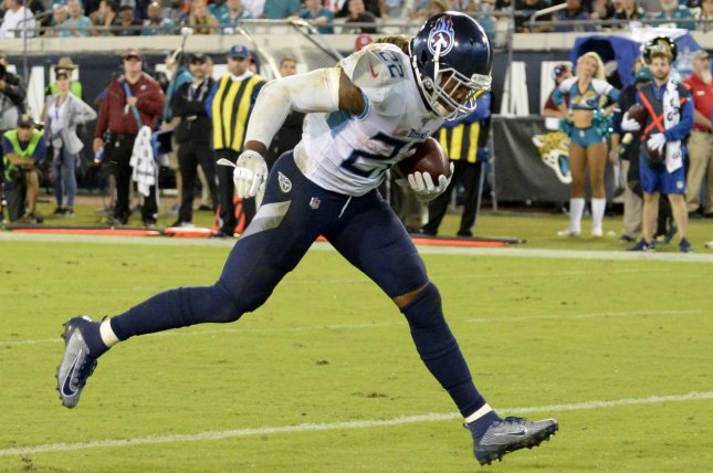 Derrick Henry of the Tennessee Titans has a great Week 16 matchup and should be a fantastic RB1 play in fantasy football. File Photo by Joe Marino/UPI