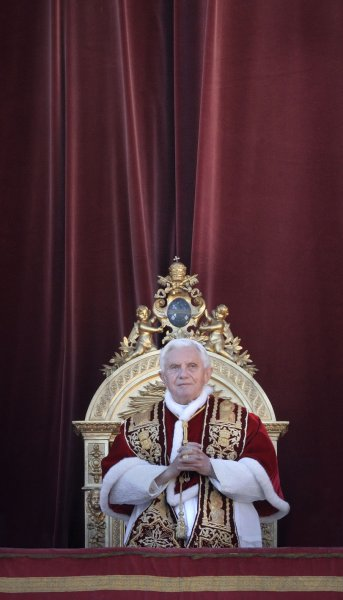 Pope Benedict XVI gives his Christmas message Dec. 25, 2011. UPI/Stefano Spaziani