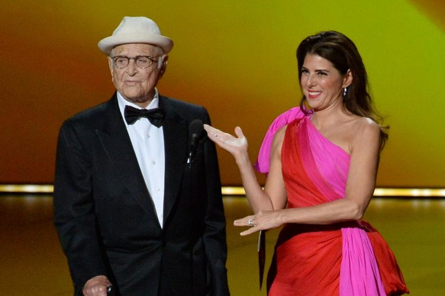 Norman Lear, seen here with Marisa Tomei at 71st annual Primetime Emmy Awards, celebrated his Creative Arts Emmy win at the Governors Ball. Photo by Jim Ruymen/UPI