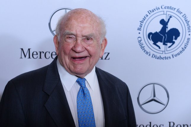 Ed Asner attends the Carousel of Hope Ball presented by Mercedes-Benz at The Beverly Hilton Hotel in California on October 11, 2014. The actor turns 90 on November 15. File Photo by Jim Ruymen/UPI