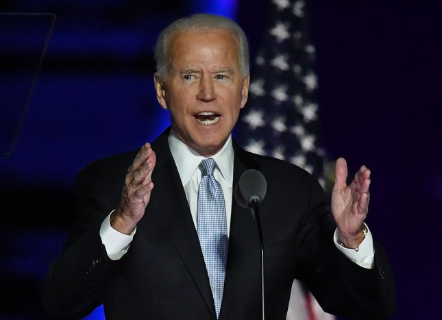 President-elect Joe Biden said he will require mask-wearing where the federal government has authority. Photo by Pat Benic/UPI