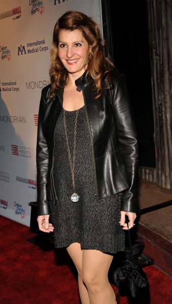 Nia Vardalos arrives at the Children Mending Hearts event honoring the International Medical Corps at the House of Blues in Los Angeles on February 18, 2009. (UPI Photo/Jim Ruymen)