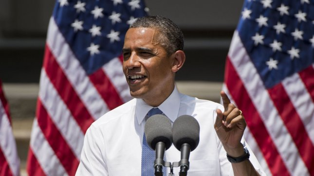 President Barack Obama delivers remarks on the campus of Georgetown University on June 25, 2013 in Washington, D.C. UPI/Kevin Dietsch