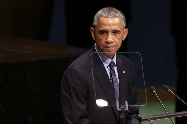 United States President Barack Obama speaks at the U.N. Climate Summit one day before the 69th United Nations General Assembly in the U.N. headquarters in New York City on September 23, 2014. UPI/John Angelillo